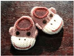 Wool Sock Monkey Slippers - *Inspiration*