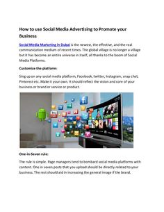 How to use Social Media Advertising to Promote your Business Digital Media Marketing, Social Media Marketing Business, Global Village, Advertising Services, Promote Your Business, Being Used, Planning, Dubai, Promotion