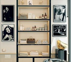 A Modern Art Deco Home Visualized in Two Styles | Bookshelf in a home office