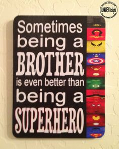 When this day comes Brother Superhero Room Art by RAMBERDesigns on Etsy…