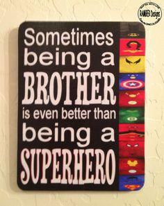 Brother - Superhero Room Art. $20.00, via Etsy.