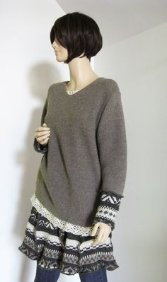 Small to Medium Skirt with Oversized Sweater by maisestudio