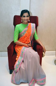40 Latest Saree Blouse Designs And Patterns that will amaze you - Wedandbeyond Latest Saree Blouse, Latest Sarees, Saree Blouse Designs, Blouse Styles, Sonam Kapoor, Indian Wedding Outfits, Indian Outfits, Wedding Dresses, Manish Malhotra Saree