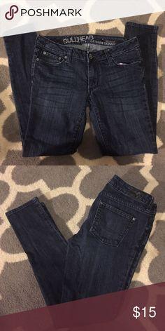 Bullhead Extremely Skinny Solana Jean - 3 Short Bullhead dark wash jeans - Extremely Skinny Solana - 3 Short Bullhead Jeans Skinny