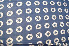 Katoen cirkel/ster jeansblauw