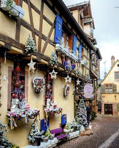 WEBSTA @_share_the_moments_ Riquewihr: Beautiful Christmases  decorated houses in Alsace  __________