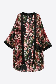 This item is shipped in 48 hours, included the weekends. This open front cardigan features an ornate rose print, wide long sleeves, mean it's as ethereal as it is easy to wear, so no matter what you d