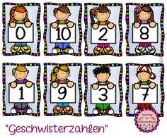 """Teacher In Wonderland: """"Geschwisterzahlen - zusammen immer 10"""""""