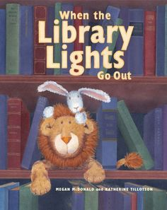 When the Library Lights Go Out by Megan McDonald http://www.amazon.com/dp/1416980288/ref=cm_sw_r_pi_dp_Kn69tb0B2GHK3