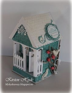 My Craft and Garden Tales: Class in making a Christmas House at Hobbykunst
