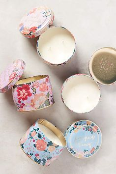 SPRING CANDLE With scents like wild honeysuckle and pomegranate peony, these candles will add a lovely fragrance to her home. Plus, the floral tin will look just as good on the coffee table.  ($20 each, anthropologie.com)