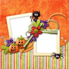"Photo from album ""Little Tricksters"" on Yandex. Marcos Halloween, Halloween 2014, Scrapbook Frames, Creations, Images, Grandchildren, Planners, Moldings, Ticket Invitation"