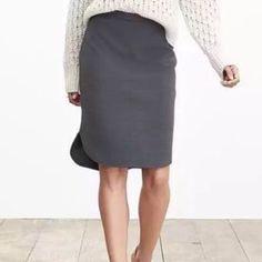 768fb64b0e98e0 Banana Republic Hi Low Skirt Dark gray ribbed skirt...never worn. Banana
