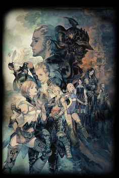 Square Enix revealed Final Fantasy XII: The Zodiac Age Release Date and concept art. The announcement took place during the Final Fantasy Anniversary. Final Fantasy Xiv, Final Fantasy Artwork, Fantasy Series, Final Fantasy Tactics, Fantasy Rpg, Geeks, The Wicked The Divine, Modelos 3d, Poster