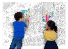 OMY Design and Play Giant Colouring Poster New York