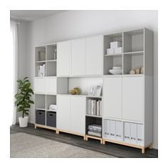 EKET Storage combination with legs - white/light gray/dark gray - IKEA Home Living Room, Living Room Designs, Living Room Furniture, Home Furniture, Furniture Stores, Luxury Furniture, Ikea Eket, Ikea Inspiration, Muebles Living