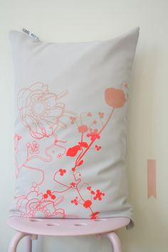 //New Fluor Up neon & nude #neon #pillows http://studiolilesadi.bigcartel.com/product/new-cushion-fluor-up-neon-nude