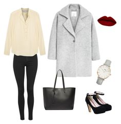"""""""Untitled #6"""" by nolwennbrc on Polyvore featuring Topshop, STELLA McCARTNEY, MANGO, Yves Saint Laurent, CLUSE, women's clothing, women, female, woman and misses"""