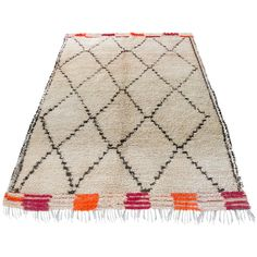 Moroccan Vintage Beni Ourain Rug | From a unique collection of antique and modern moroccan and north african rugs at https://www.1stdibs.com/furniture/rugs-carpets/moroccan-rugs/