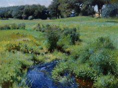 Dennis Miller Bunker (American, 1861-1890)  The Pool, Medfield