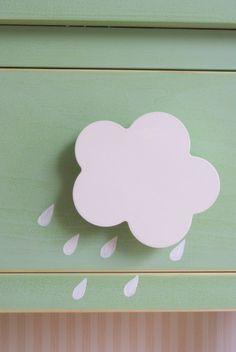 Mesita 1 cajon tirador cloud rain in La tienda de La Factoría Plástica