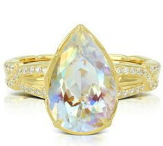 Moon rays find their master. Ceylon Moonstone by Kat Florence
