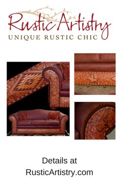 """Tucson Sofa - The expression """"functional art"""" may have been coined with this exquisite Rustic sofa in mind. https://rusticartistry.com/product/tucson-sofa/ #rustic #rusticdecor #cabin #cabinlife #handcrafted"""