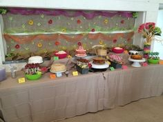 Cake buffet, Food table, cake table, birthday party cake buffet, cake table backdrop, 90th birthday