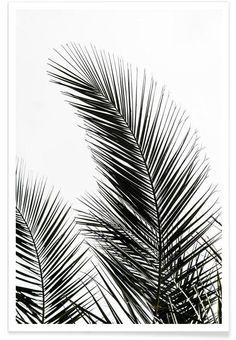 Palm Leaves 1 en Affiche premium par Mareike Böhmer | JUNIQE
