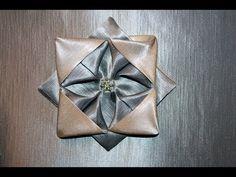 "Оригами (origami) из ткани цветок ""Астра"" - YouTube"