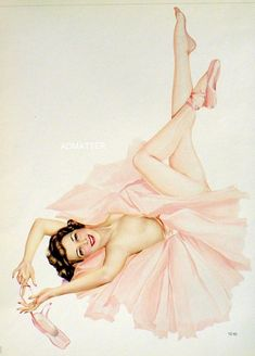 Vargas Girls Pin UPS | Vargas 1942 Ballerina Pin Up Girl Vintage 2 Sided Print | eBay