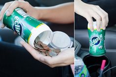 Keep extra change in an empty gum container. | 15 Useful Things That Will Actually Organize Your Car