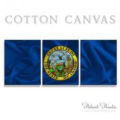 Idaho State Seal and Flag Canvas Print