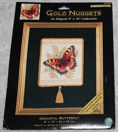 Cross Stitch Kit #35058 RARE. Graceful butterfly - Dimensions Counted. This is a great item to add to your cross stitch collection. This kit is RARE and hard to find. Kit is new and unopened. | eBay!