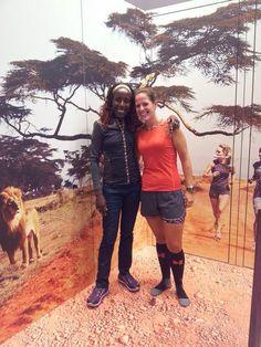 Gaby meets Lornah Kiplagat