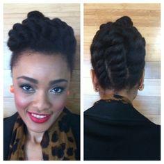 Flat Twist Updo- Corporate Natural Hair