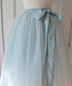 Pale Blue Tutu  Romantic Ballerina Tulle Skirt by AnjouClothing, $128.00