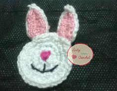 Luty Artes Crochet: Coelho em crochê para aplicações + Gráficos.