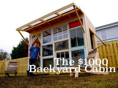"""In this clip, Derek """"Deek"""" Diedricksen (HGTV's """"Tiny House Builders"""") and www.Relaxshacks.com, show us a tiny backyard office that he designed and built with..."""