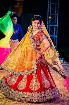 "Photo from Finding Focus Films ""Wedding photography"" album Red Lehenga, Bridal Lehenga, Saree Wedding, Wedding Dresses, Wedding Colors, Wedding Styles, Saree Gown, Wedding Sutra, Wedding Preparation"