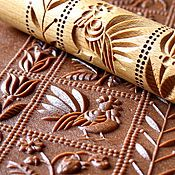 Embossed Rolling Pin Pastry Tools Housewarming Gift For New Home Decor Textured Hand Carved Stamp Patterns Gingerbread Creative Baking Mold Springerle Cookies, Baked Rolls, New Home Gifts, Tampons, Kitchen Gadgets, Kitchen Tools, Hand Carved, Carved Wood, Gingerbread