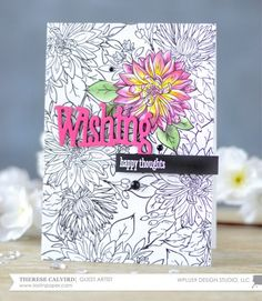 Project: Stamped Floral Greeting Card with a Coloring Page Look
