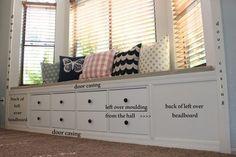 Kallax Shelf turned Window Bench