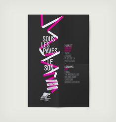 design graphique identité visuelle concert tours 2012, thibaut chignaget