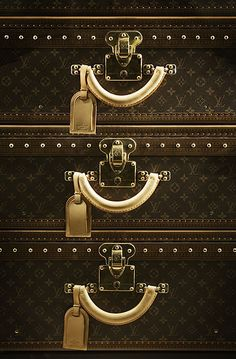 Louis Vuitton luggage suitcase set - Locked and loaded. Ready to go!