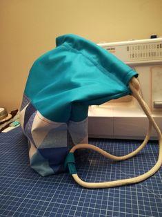 Teal blue bag