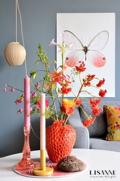 Interior Plants, Interior Exterior, Interior Design, Pastel Room, Pastel House, Home Living Room, Living Room Designs, Room Inspiration, Interior Inspiration