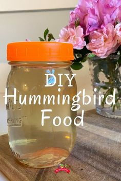 Make dye free hummingbird food for your tiny feathered friends. This easy recipe uses just two ingredients and can be stored in the refrigerator until ready to use. Be kind to your backyard birds with this DIY hummingbird food. Homemade Hummingbird Food, Red Food Dye, Glass Hummingbird Feeders, Herb Garden Design, Diy Bird Feeder, Parts Of A Flower, Homemade Cleaning Products, Red Food Coloring, Plastic Flowers