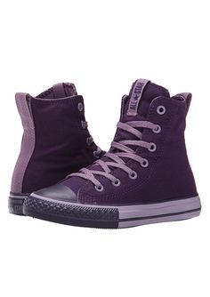 2665a5f95301 Converse kids chuck taylor all star slip it hi little kid big kid eggplant  peel dusty lilac eggplant