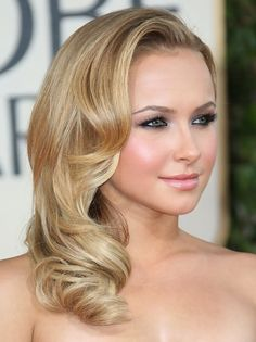 Hayden Panettiere Medium Length Hairstyle: Side Sweep